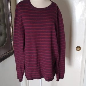 Ted Baker burgandy pull over sweater size 6